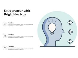 Entrepreneur With Bright Idea Icon