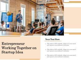 Entrepreneur Working Together On Startup Idea