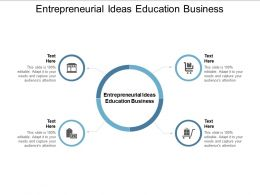 Entrepreneurial Ideas Education Business Ppt Powerpoint Presentation Layouts Cpb