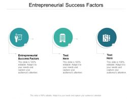 Entrepreneurial Success Factors Ppt Powerpoint Presentation Model Backgrounds Cpb