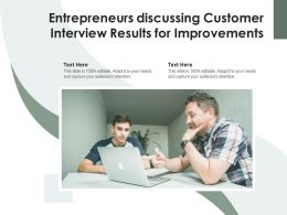 Entrepreneurs Discussing Customer Interview Results For Improvements