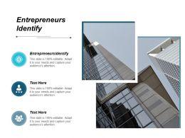 Entrepreneurs Identify Ppt Powerpoint Presentation Gallery Design Templates Cpb