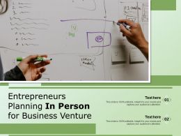 Entrepreneurs Planning In Person For Business Venture