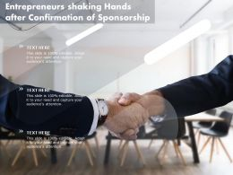 Entrepreneurs Shaking Hands After Confirmation Of Sponsorship