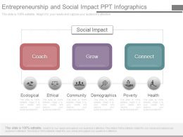 Entrepreneurship And Social Impact Ppt Infographics