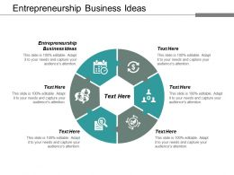 Entrepreneurship Business Ideas Ppt Powerpoint Presentation Styles Designs Download Cpb