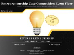 Entrepreneurship Case Competition Event Flyer