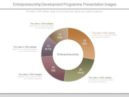Entrepreneurship Development Programme Presentation Images