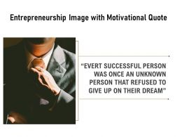 Entrepreneurship Image With Motivational Quote