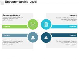 Entrepreneurship Level Ppt Powerpoint Presentation Pictures Show Cpb