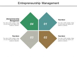 Entrepreneurship Management Ppt Powerpoint Presentation Outline Objects Cpb