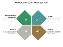 Entrepreneurship Management Ppt Powerpoint Presentation Outline Objects Cpb