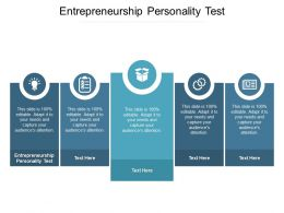 Entrepreneurship Personality Test Ppt Powerpoint Presentation Styles Structure Cpb