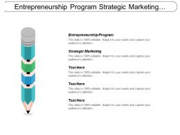 Entrepreneurship Program Strategic Marketing International Marketing Networked Business Cpb