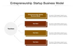 Entrepreneurship Startup Business Model Ppt Powerpoint Presentation Show Format Ideas Cpb