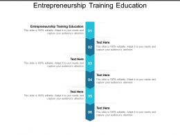 Entrepreneurship Training Education Ppt Powerpoint Presentation Styles Graphic Images Cpb