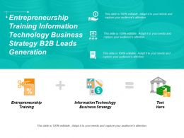 Entrepreneurship Training Information Technology Business Strategy B2b Leads Generation Cpb