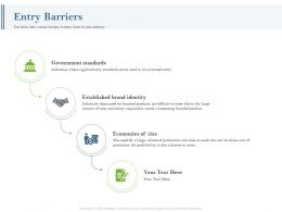 Entry Barriers Government Standards Ppt Model Visuals