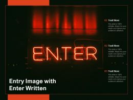 Entry Image With Enter Written