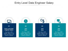Entry Level Data Engineer Salary Ppt Powerpoint Presentation Show Example Introduction Cpb