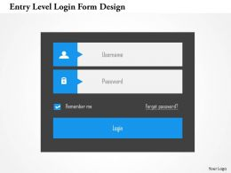 Entry Level Login Form Design Flat Powerpoint Design