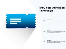 Entry Pass Admission Ticket Icon