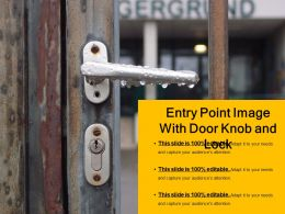 Entry Point Image With Door Knob And Lock