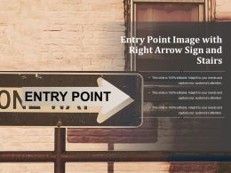 Entry Point Image With Right Arrow Sign And Stairs
