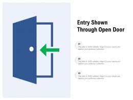 Entry Shown Through Open Door