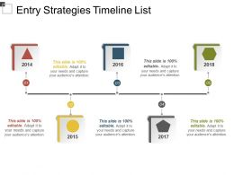 Entry Strategies Timeline List PowerPoint Shapes
