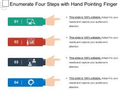 Enumerate Four Steps With Hand Pointing Finger