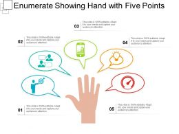 Enumerate Showing Hand With Five Points