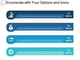 Enumerate With Four Options And Icons