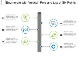 Enumerate With Vertical Pole And List Of Six Points
