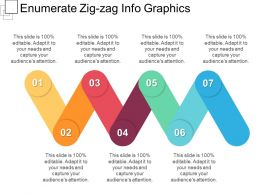 Enumerate Zig Zag Info Graphics