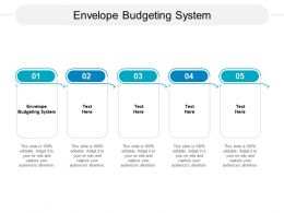 Envelope Budgeting System Ppt Powerpoint Presentation Layouts Cpb