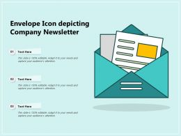 Envelope Icon Depicting Company Newsletter