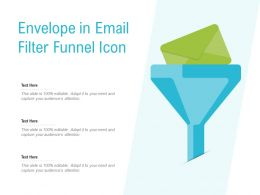 Envelope In Email Filter Funnel Icon
