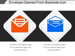Envelope Opened From Backside Icon