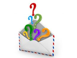 Envelope With Question Mark Stock Photo