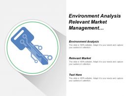 Environment Analysis Relevant Market Management Process Understand Corporate Culture