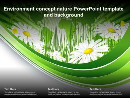 Environment Concept Nature Powerpoint Template And Background