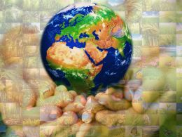 Environment Globe Photo Mosaic Nature Collage Ppt Diagrams