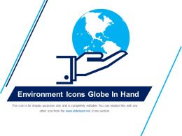 Environment Icons Globe In Hand