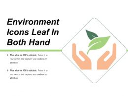 Environment Icons Leaf In Both Hand