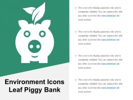 Environment Icons Leaf Piggy Bank