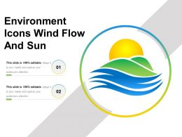Environment Icons Wind Flow And Sun