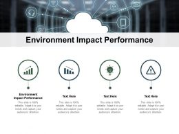 Environment Impact Performance Ppt Powerpoint Presentation Portfolio Graphics Example Cpb