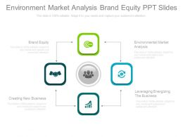 Environment Market Analysis Brand Equity Ppt Slides
