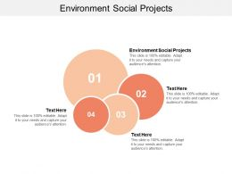 Environment Social Projects Ppt Powerpoint Presentation Gallery Model Cpb